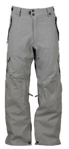 686 Mens Defender Cargo Snowboard Charcoal Heather Pants Size 2XL