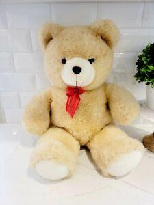 """Teddy Bear Plush with Red Bow • Stuffed Animal • 20"""" • CUTE • SOFT • CUDDLY!"""