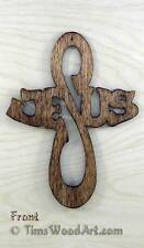 Jesus Cross, Baltic Birch Wood,  Hanging or Ornament, Item J-3
