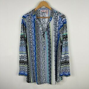Millers Womens Tunic Top Size 24 Plus Multicoloured Floral Long Sleeve 21.09