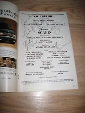 January 1993 Scapin On Broadway Cast Signed Playbill/Stanley Tucci/Mary Testa