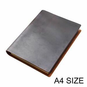 Notebook A4 Leather Cover Loose Leaf Diary Travel Journal Sketchbook Planner Set