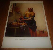 Vintage Print 1939 New York World's Vermeer The Milkmaid - Masterpieces of Art