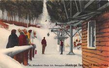CAMBRIDGE VT 1951 Mt Mansfield Chair Ski Lift @ Smuggler's Notch Ski Area GEM+++