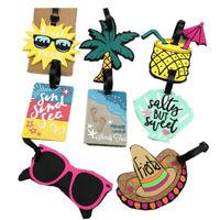 Multi-styles Travel Baggage Luggage Tags Card Glasses Beach Sun Coconut Tree DIY