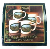 Vintage 1978 Polo Ralph Lauren Limited Edition Mug Coffee Cup Set Of 4 VTG