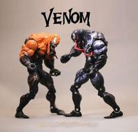 """Marvel Univers Spider-Man Unique Venom Action Figure 6"""" Collectible Toy Set"""
