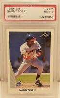 1990 Leaf #220 Sammy Sosa White Sox RC Rookie PSA 9 MINT