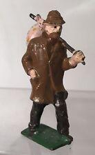 Vintage Britains Hobo Traveler Brown Rain Jacket Miniature Lead Figure England