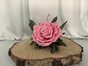 Large Pink Sugar Paste Rose Cake Decoration/topper