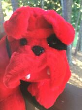 Bulldog Black Eye Plush Red Dog Stuffed Animal B. J. Toy Company. Inc Soft