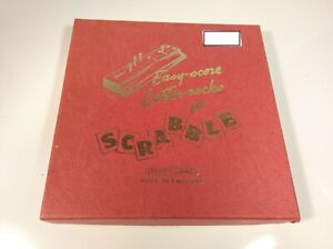 Scrabble Easy Score Letter Racks Red Vintage Spears Games Collectable