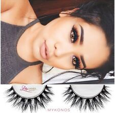 3D Mink False Eye Lashes 100% Real Siberian Mink Look Like Lilly Mykonos 1 Pair