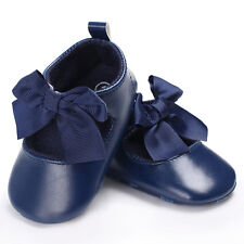 Toddler Baby Girl Princess Soft Crib Shoes Leather Moccasins Anti-slip Prewalker