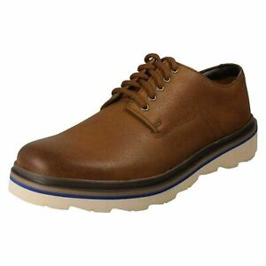 Mens Clarks Leather Casual Lace Up Shoes - Frelan Edge