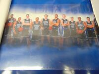 """2001-02 DUKE Basketball Team Poster with Jay Williams Autograph 33"""" x 23"""""""