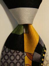 ELECTRIC NECKWEAR Power Ties Silk XL Necktie Designer Geometric Multi-Color GUC