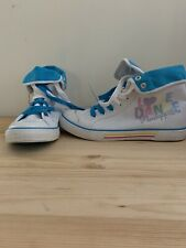 NEW Pineapple White Mesh 'LOVE DANCE' Rainbow High Top Canvas Trainers Size 5