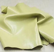 Green Goat Leather Hide Crafts Binding Handbag Upholstery Wallet Lining Wallet