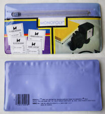 RARE VINTAGE 1984 MONOPOLY PENCIL CASE ENVELOPE BAG STATIONERY TAIWAN NEW !!