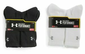 Under Armour Performance HeatGear Crew Socks 3 OR 6 Pairs Mens Size 9-12.5