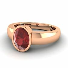 14k Rose Gold 1.23 Ctw Natural Garnet 5 mm Men's Engagement / Wedding Band Ring
