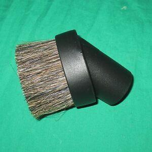 "Black 1 1/4"" Universal Horse Hair Dust Brush Fit 1.25"" Attachment Vacuum Tool"
