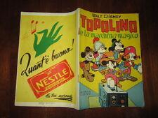WALT DISNEY ALBO D'ORO 1°RISTAMPA N°58 LUGLIO 1953 TOPOLINO E LA MACCHINA MAGICA