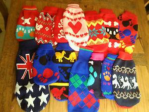 Lhasa Apso Westie Shih Tzu Warm Winter Jolly Dog Jumpers Clothes Coats UK