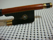 7K Gold Top Pernambuco Viola Bow / Black OX Horn Frog