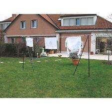 Etendoir à linge d'extérieur pour jardin en T avec corde à linge 20 mètres
