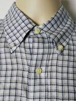 Brooks Brothers Linen Long Sleeve Button Down Shirt Mens Extra Slim Fit Medium