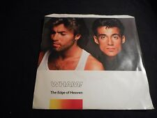 "WHAM! ""THE EDGE OF HEAVEN / Blue (Live)"" COLUMBIA 38-06182 45rpm & PIC SLV"