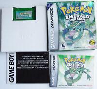 AUTHENTIC Pokemon Emerald Version New Battery GBA CIB Box and Manual #10