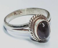 Sterling Silver Traditional Asian Vintage Style Black Star Ring Size S Gift