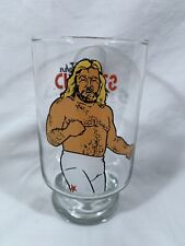 VTG WWF Big John Studd 32oz Collectible Glass Pedestal 1980s Wrestling