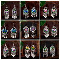 Fashion New Bohemian Drop Tassel Tribal Jhumki Earrings Ethnic Gypsy Jewellery