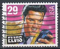 USA Briefmarke gestempelt 29c Elvis Presley / 179