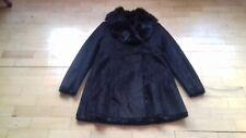 Marc New York Andrew Marc Ladies Black Shearling Faux Fur Designer Coat, size M