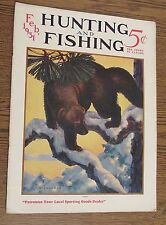 Hunting and Fishing Magazine  February 1931 Color Remington ad on back cover.