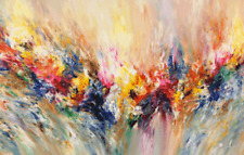 """Abstract Art Colourful wall art printed on canvas 22'' X 14"""" solid frame"""