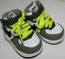 Nike Force 1 Boy's Hi Top Sneakers Gray White New Nwob Size 2C Free Shipping!