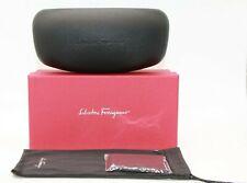 NEW SALVATORE FERRAGAMO EYEGLASSES SUNGLASSES RED BOX BLACK CASE CLOTH POUCH