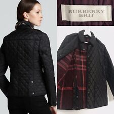 Burberry Jacket Diamond Quilted Wax Jacket Coat Black | Kencott | BURBERRY BRIT