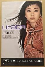 UTADA Ultra Rare 2004 PROMO POSTER of Exodus t CD 11x17 NEVER DISPLAYED USA