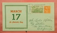 PREXIE ON 1939 NAVAL USS CAPELLA SHIP ST PATRICKS DAY LINTO CACHET