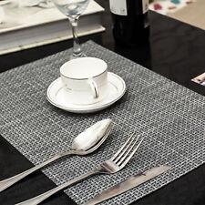 4X PVC Dining Placemats Environmental Pad Mat Heat Insulation Gray AuSeller Fast
