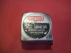 Vintage Craftsman 20ft. Wide Blade Locking Tape Measire #39217