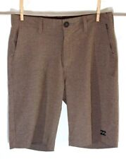 "BILLABONG Submersibles 27 Shorts BROWN  9.5"" inseam Zip Pocket"