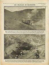 Canons Marine Nationale Trains Blindés Macedonia War Macédoine/Vardar 1916 WWI
